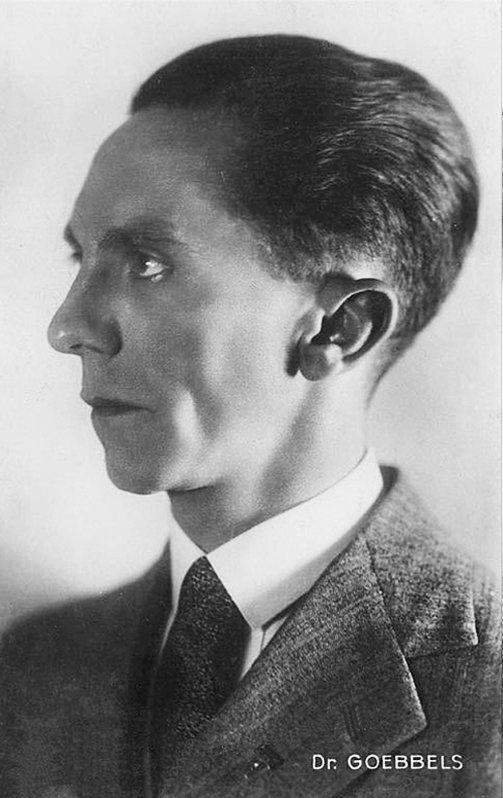 Joseph Goebbels, who commissioned Nazi Titanic