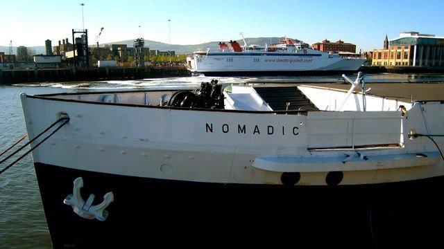 SS Nomadic showing her name