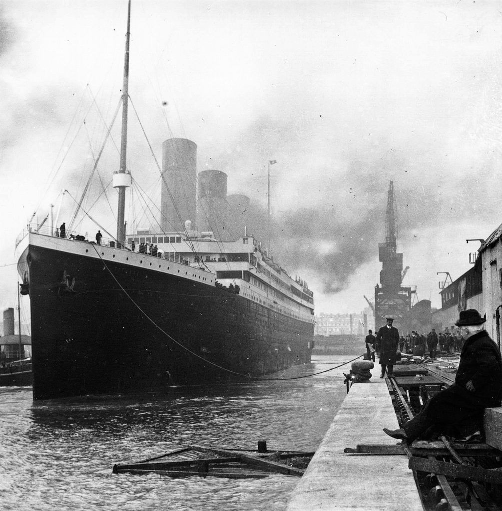 Titanic and the S.S Californian were close. This is a picture of Titanic leaving port.